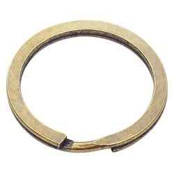 Kółka płaskie do kluczy breloków 25 mm 10 szt. stare złoto