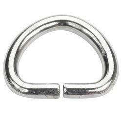 Półkółka kaletnicze do torebki szelek kombinezonu paska 16,5 mm srebrne 10 szt.