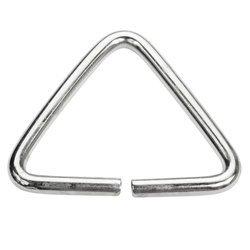 Trójkąty kaletnicze do torebki szelek kombinezonu paska 41 mm srebrne 10 szt.