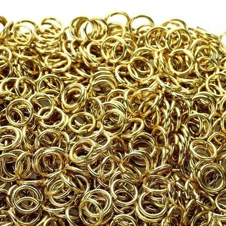 Kółka stalowe ø 8 mm 1 kg złote