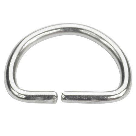 Półkółka kaletnicze do torebki szelek kombinezonu paska 12 mm srebrne 10 szt.