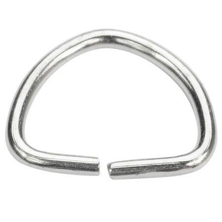 Półkółka kaletnicze do torebki szelek kombinezonu paska 21 mm srebrne 10 szt.